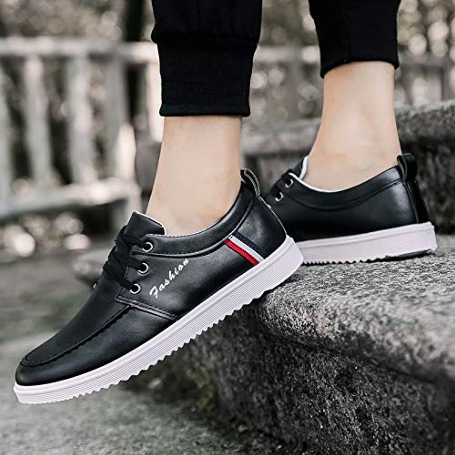 LOVDRAM Men's shoes Men'S shoes New Casual shoes Male Students Fashion Men'S shoes Fashion Sports Wind shoes