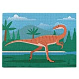 Coelophysis Prehistoric Dinosaur Jigsaw Puzzle,520 Piece Wooden Large Format Jigsaw Puzzle for Kids Adults KXT