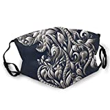 Cubierta facial cómoda a prueba de viento, símbolo sobre flor de la vida, estampado de patrón de relación secreta abstracta, decoraciones faciales impresas para unisex