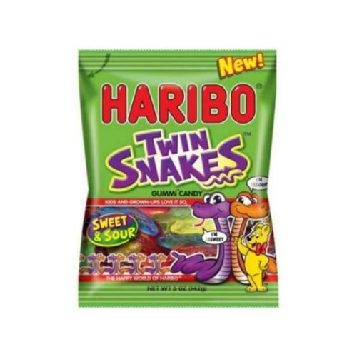 Haribo Twin Snakes Super-cheap Sweet and Sour Gummy per -- 12 Ounce 5 Candy Columbus Mall