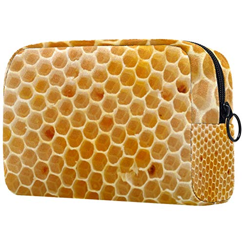 Bolsa de cosméticos para mujer, panal, bolsas de maquillaje, accesorios organizador de regalos
