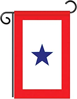 Two Group G158042-P2 Blue Star Service Americana Military Decorative Vertical Garden Flag, 13