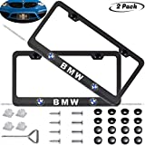 x5 license plate frame - 2-Pieces Newest Matte Aluminum Alloy License Plate Frame for BMW,Applicable to US Standard car License Frame,FBA Fast Delivery(Native BMW)…