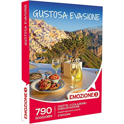 Emozione3 - Gustosa Evasione - 790 Gustosi Soggiorni Di 1 Notte, 1 Colazione e 1 Degustazione In Agriturismi e Hotel, Cofanetto Regalo Gastronomici