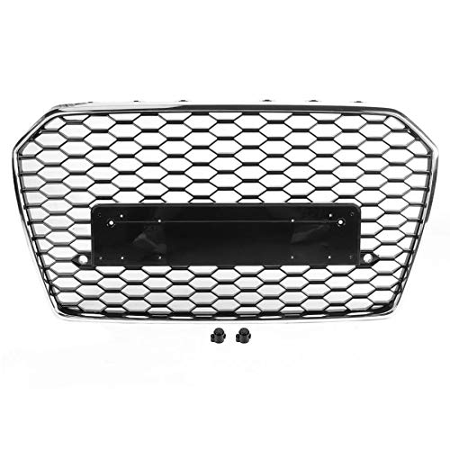 EBDH Front Mesh Grille, Car Accessories Fit for Audi A6 / S6 C7 2016 2017 2018 Car Accessories 1 PCs For RS6 RS Style Car