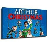 Coobal Arthur - Póster de Navidad, diseño de Navidad, decoración de Año Nuevo, para paredes listas para colgar para cocina, dormitorio, 61 x 40 cm