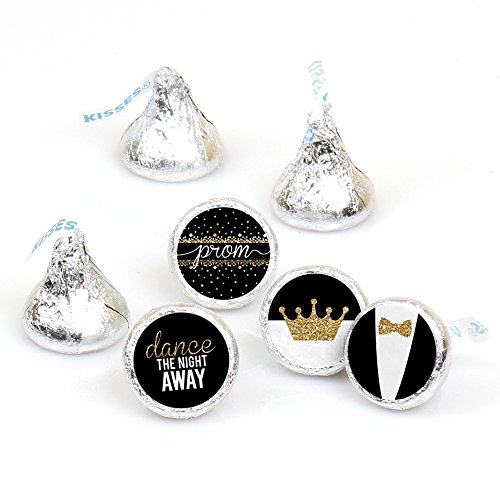 Prom - Round Candy Prom Night Sticker Favors - Party Decorations - Labels Fit Hersheys Kisses (1 Sheet of 108)