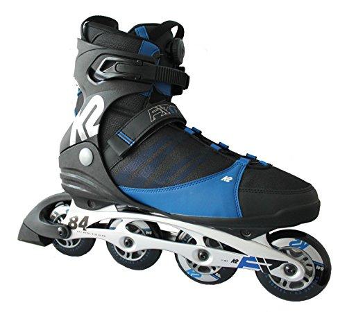 K2 Herren Inline Skate F.I.T. 84 Speeed Inlineskate, Schwarz/Blau, 11.5