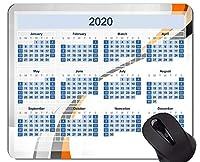 カレンダー2020年ゲーミングマウスパッド、曲線ラインマウスパッド