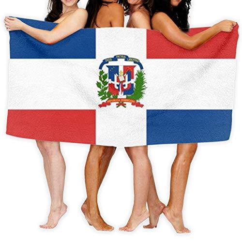 yting Bandera de República Dominicana Toallas de baño Grandes Toalla de Playa Toalla de baño Absorbente de Viaje Suave 130 x 80 cm