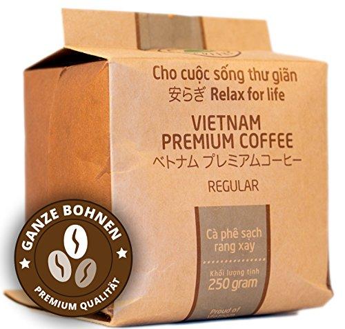 VietBeans – Hello5 Regular 250g – Hochwertige Hochland Kaffeebohnen – Vietnamesischer Kaffee mit Schokoladigem Aroma und hohem Koffeingehalt - Kräftig