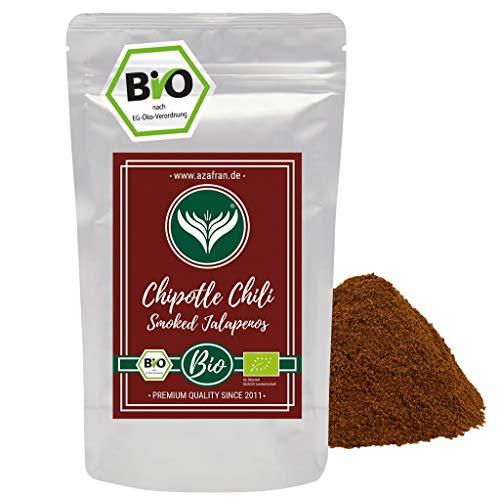 Azafran BIO Chipotle Chili Pulver gemahlen - Geräucherter Jalapeno - Chilipulver 250g