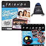 Friends TV Series Party Game 2-Pack: The One with The Apartment Bet Trivia Game, The One with The Ball Challenge, and Sport Bag