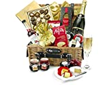 Eton Hamper With Champagne - Hand Wrapped Gourmet Food Basket, in Gift Hamper Box