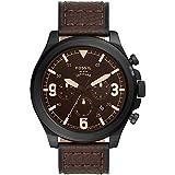 FOSSIL Latitude - Orologio cronografo con cinturino in pelle marrone da uomo FS5751