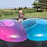47 Inch Giant Water Bubble Ball , Inflatable Water-Filled Ball Soft Rubber Ball for Outdoor Beach Pool Party Large (Blue)