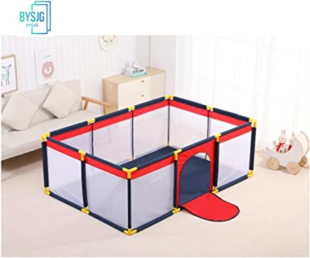 BYSJG Baby Protective Fence Playpens Nursery Furniture for toddler for babies baby baby Play Yard Home play fence Play mat  Color black  Size 1 9 1 3 0 65m