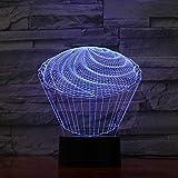 3D LED The Spiral Cake Table Lamp 7 Decoración colorida Dormitorio del bebé Sleep Nightlights Mesita de noche Postre Accesorios de iluminación Juguetes para niños Regalos