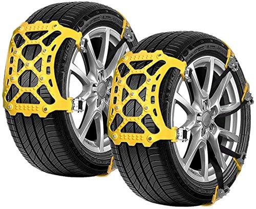 monroebaby Schneeketten Auto Universal 6 Stücke Anti-Rutsch-Ketten Geeignet für Reifenbreite 165mm-285mm(mit Schaufel Schraubenschlüssel Handschuh)