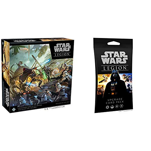 Fantasy Flight Games Star Wars Legion Clone Wars Core Set & Star Wars Legion: Upgrade Card Pack
