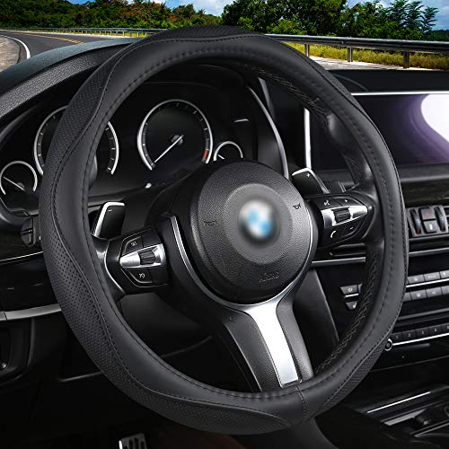 Aierxuan Microfiber Leather Steering Wheel Covers. Universal Fit...