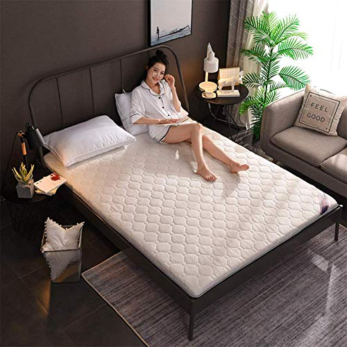 GJJSZ Double Sided Mattress Topper Pad,thick Sleeping Floor Mat,quilting Breathable Traditional Japanese Futon Cushion Knitted Bed Topper Pillow Top Mattress-a-4cm 100x200cm(39x79inch)