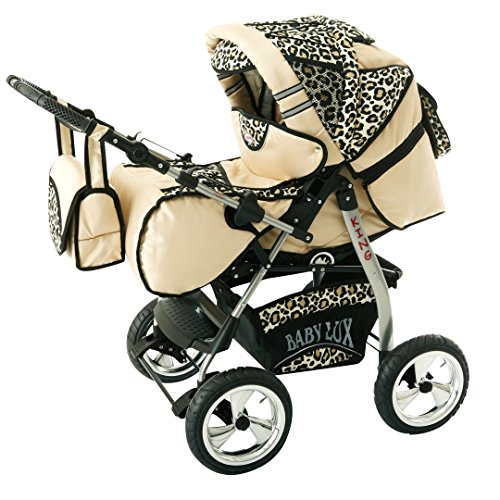 Kinderwagen King Cream & Leopard