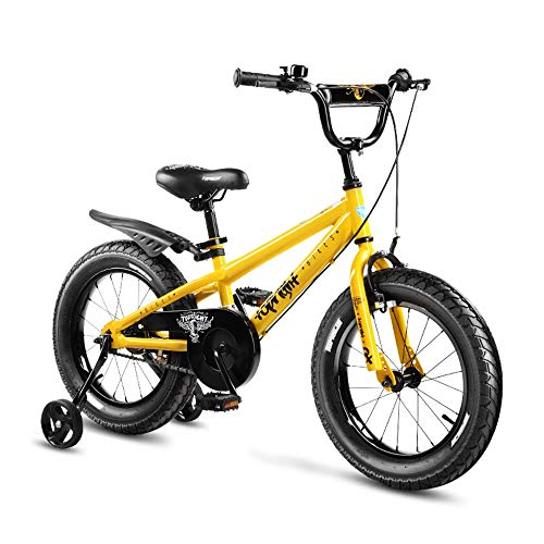 New Axdwfd Kids Bike 16 Kids Bike,Boys and Girls with Alloy Kickstand V-Brake and Backpedal Brake w...