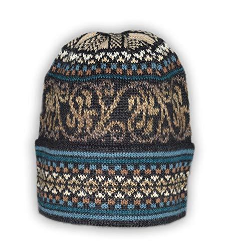 Invisible World Gorro Lana de Alpaca 100% Beanie Hat de Invierno Tejido...
