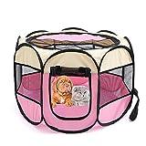 N/ JXAPD Klappbarer Achteckiger Haustierzaun Oxford-Stoff Wasserdichtes, Kratzfestes Hundekatzenzelt Abnehmbar Und Waschbar-Reisnudeln_S 72 × 72 × 45 cm