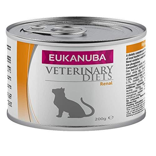 Eukanuba Renal Nassfutter Diätfutter für Katzen bei Nierenproblemen - 6er Pack (6 x 200 g)