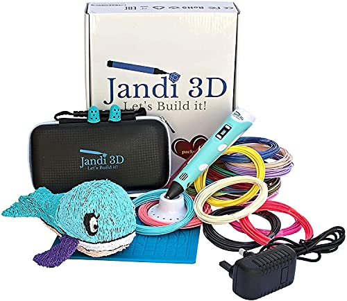 Jandi 3D Pen, This 3D Printing Pen is Reliable, Ergonomic, with 328ft of PLA Filament, mat and More....