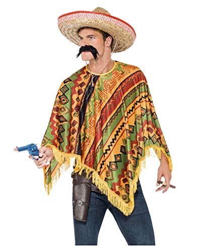 Horror-Shop Poncho mexicain avec barbe