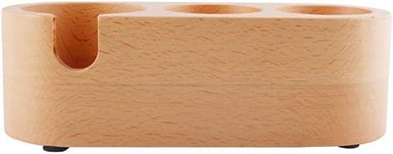 حامل القهوة ، حصيرة عبث إسبرسو الخشبية، منظم مكتب أقسام مقسمة لأدوات الشاي القهوة إسبرسو 58 مم، 51 مم