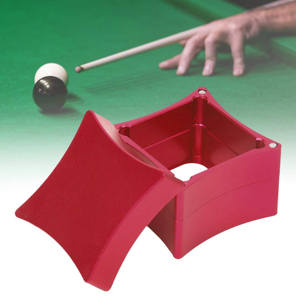 Alomejor Caja de Soporte de Tiza Caja de Tiza de Punta de Billar de Metal de 3 Secciones Caja de Tiza Caja de Tiza de Billar de Billar Caja de contenedor(Rojo): Amazon.es:
