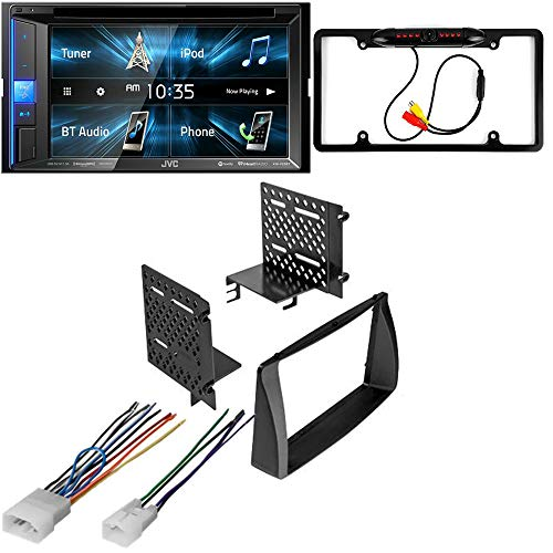 CACHÉ KIT2951 Bundle with Complete Car Stereo Installation Kit with Receiver – Compatible with 2003–2008 Toyota Corolla – Bluetooth Touchscreen, Backup Camera, Double Din Dash Mounting Kit (4Item)