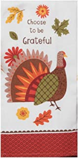 Kay Dee Designs Kitchen Dish Terry Towel Turkey Day Choose to Be Grateful