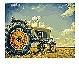 Pintura Digital Tren Paisaje Pintura Sobre Lienzo Pintado A Mano Arte Imagen Paquete Diy Regalo Decoración Del Hogar 50X40Cm
