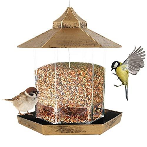 JNXY Alimentador de pájaros Plástico Colgante Linterna Alimentador de pájaros Alimentador Al Aire Libre Pájaro Pájaro Pájaro Alimentador Alimentador Contenedor de alimentos for el jardín Pájaros Alime