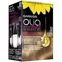 Garnier Olia coloración permanente sin amoniaco para un olor agradable con aceites florales de origen natural - Tono 7.3 Rubio Dorado