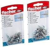 Fischer - Taco metálico para cartón-yeso GKM SK (2 paquetes)