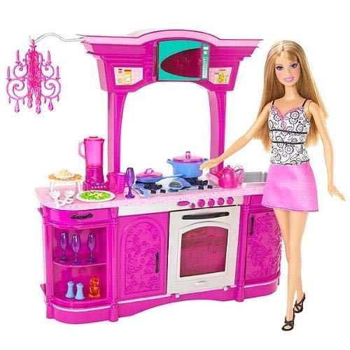 Check Price Barbie Kitchen Play Set Glam Kitchen Forcipal Ert