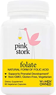 Pink Stork Folate: Superior to Synthetic Folic Acid -Doctor Recommended Before and During Pregnancy -Absorbable by All Body Types -Supports Prenatal Development and Energy -Small Pill