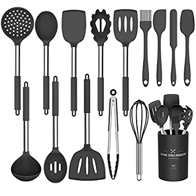 Umite Chef Kitchen Utensil Set, 15pcs Silicone Cooking Kitchen Utensils Set, Cooking Tools Turner Tongs Spatula Spoon for Nonstick Heat Resistant Cookware from Umite Chef