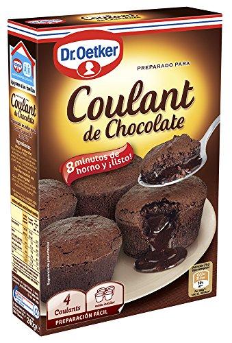 Dr. Oetker Coulant De Chocolate, Preparado Para Coulants De Chocolate - Estuche Con Mezcla 65g + 75g De Cacao Para Fundir (cantidad = 4 Es)