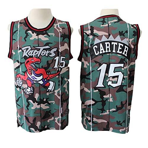 Zyf Camiseta Baloncesto # 15 Camiseta de Baloncesto Vince Carter de los Hombres, Transpirable Resistente al Desgaste bordó la Camiseta Camiseta, XS-XXL (Color : A, Size : XXL)
