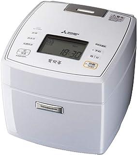 三菱電機 IHジャー炊飯器 5.5合炊き 備長炭 炭炊釜(5層厚釜) ハードコート80 七重全面加熱 月白 NJ-VVB10-W