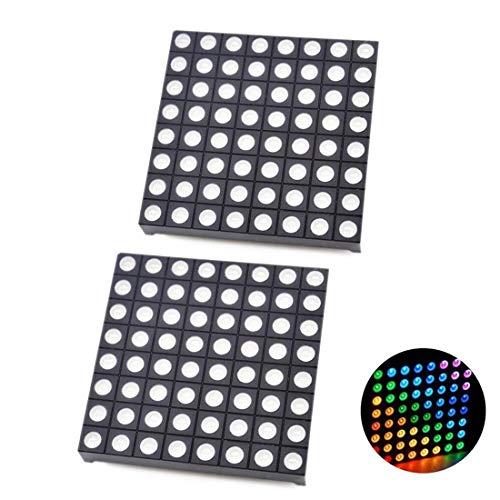 LED-Matrix-Modul für Arduino, 8 x 8, RGB-LED-Matrix, 60 x 60 mm, 2 Stück