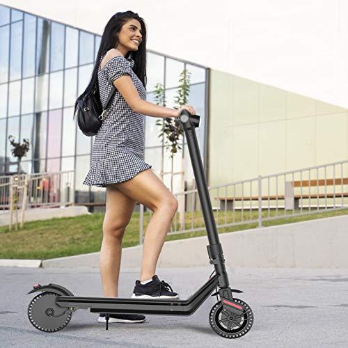 XIAOTIAN Scooter Todoterreno De Luz Eléctrica Plegable De 8.5 Pulgadas, Duración De La Batería del Motor De 350 W hasta 26 Km, Velocidad Máxima De hasta 25 Km/H (Negro)