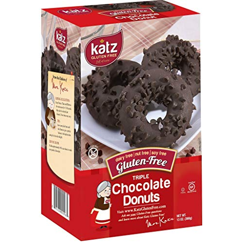 Katz Gluten Free Triple Chocolate Donuts | Dairy Free, Nut Free, Soy Free, Gluten Free | Kosher (6 Packs of 6 Donuts, 13 Ounce Each)
